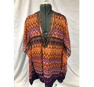 Atmosphere Beach Kaftan Orange & Purple Size: S
