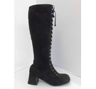 Unbranded Vintage 60s Laced GoGo Boots black Size: 3