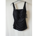 M&S Marks & Spencer Padded Bust Tankini Black Size: 24