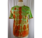 M&S Short Sleeved Top Green/Orange Size: 6