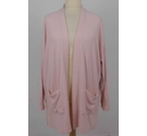 Lands End Cardigan Baby Pink Size: XL