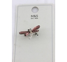 M&S dragonfly style bejewelled brooch. New