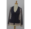 Paul Costelloe Merino Wool Cardigan Grey & Beige Size: M