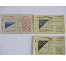3 x Vintage 1970s Motor Fuel Ration Books
