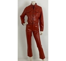 Gaultier Jeans PVC Trouser and Jacket Set Rust Size: S