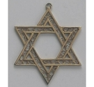 Star of David 9 carat gold pendant
