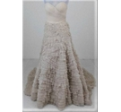 Watters Brides Strapless Flounce Layered Dress