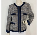 Betty Barclay Two Way Zip Jacket Navy Size: 16