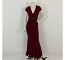 Nicole Miller Evening Gown Wine Red Size: 10
