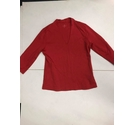 Spirit of the Andes Tight Fit V-Neck Top Red Size: M
