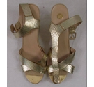 River Island Strappy Sandals Gold Size: 8