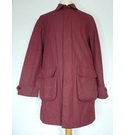 John Lewis Cotton Weatherproof Jacket Burgundy Size: M