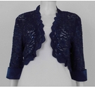 R&M Richards Lace Sequin Bolero Midnight Blue Size: 14