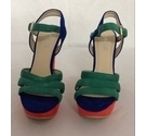 SNZ Women Platform Shoes Red/Green/Blue Size: 6.5
