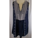 Monsoon Embroiydered Tunic Blue Size: 10