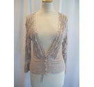 Kaliko Crochet Effect Cardigan Golden Brown Size: 10