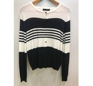 M&S Collection lightweight cardigan black and white Size: 12
