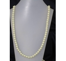Plastic Pearl Effect Long Necklace 48""