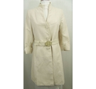 Mango Fully lined summer coat Beige Size: L