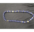 Retro Blue Necklace 24""