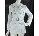 Jasper Conran Short Belted Trench Coat Cream Size: 8