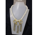 River Island BN Necklace Rope Silver Gold Plated 16""