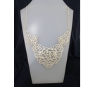 Metal Diamante Retro Style Flower Necklace 24""