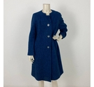 Shagmoor Wool Coat Indigo Size: XL