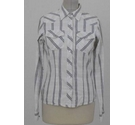 Soulcal & Co Cotton Western Shirt Ivory Mix Check Size: 10
