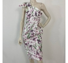 ASOS BNWT Floral Strapless Dress Ivory Size: 8