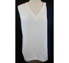 ASOS new sleeveless top cream with blue Size: 10