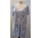 Monsoon Floral Top Blue and Ivory Size: 16
