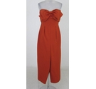 Loaded from ASOS bandeau jumpsuit orange Size: S
