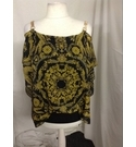 STAR BY JULIAN MACDONALD WOMENS TOP BLACK AND YELLO Size: 14