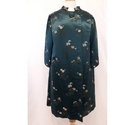 Chinese style coat teal Size: L
