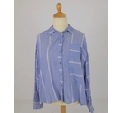 M&S Striped Shirt Blue Size: 16