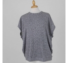 ASOS Ribbed Knit Top Speckled Grey Size: M