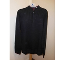 Piere Cardin Half Zip jumper Black Size: XL