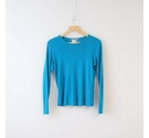 M&S Marks & Spencer Basic Crew Neck Top Bright Teal Size: 12