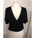 Lucy Wang womens black top black Size: L