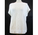 Damart knitted sleeveless top white Size: 16