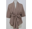 The Fold open front jacket camel Size: 10
