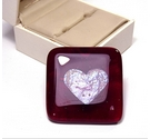 Kit Heath Red Heart detail broach in box