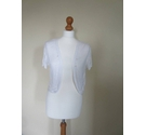 M&S Marks & Spencer Short bolero White Size: 14
