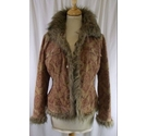 Precis Petite Casual Jacket Camel Patterned Size: 8