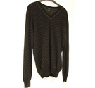 Gucci V Neck Jumper Black & Grey Size: XL