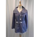Toast Belted Cotton Jacket American Blue Size: 8