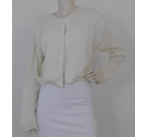 Adolfo Dominguez Mohair effect cardigan Cream Size: L