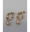 Vintage Napier clip on pearl earrings