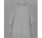 M&S Marks & Spencer Towelling Cold-Shoulder Top White Size: 22